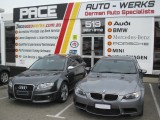 Audi RS4 and BMW M3