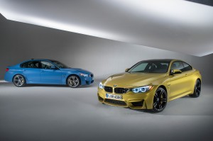 BMW M3 Sedan and M4 Coupe front and side view