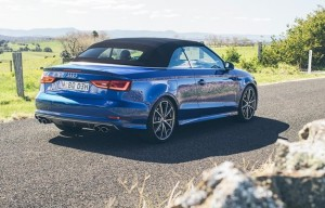 Audi S3 Cabriolet with the roof in up position