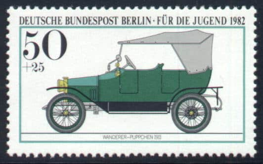Audi History - Philately Germany Berlin 1982 Wanderer Puppchen