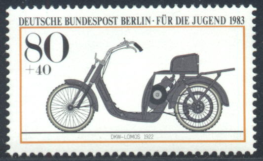 Audi History - Audi Philately Germany Berlin 1983 1922 DKW Lomos MC