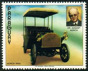 Audi History - Paraguay 1986 Horch 1900 label