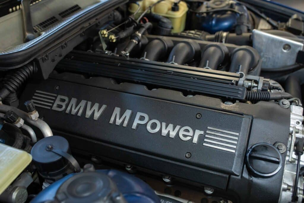 bmw service performed on an engine